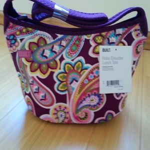 NWT Built NY Hobo Shoulder Lunch Tote Paisley